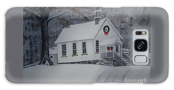 Christmas Card - Snow - Gates Chapel Galaxy Case