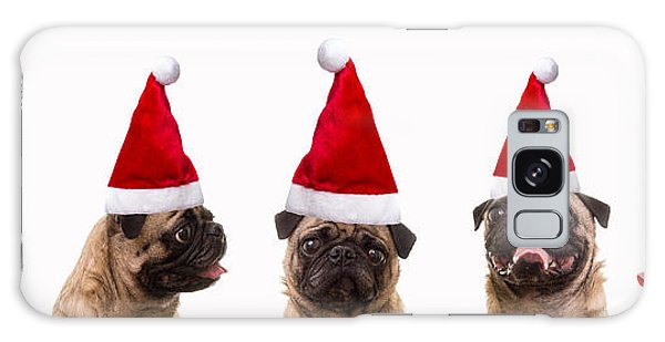 Santa Claus Galaxy Case - Christmas Caroling Dogs by Edward Fielding