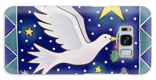 Christmas Dove  Galaxy Case by Cathy Baxter