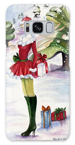 Christmas Fantasy  Galaxy Case by Nadine Dennis