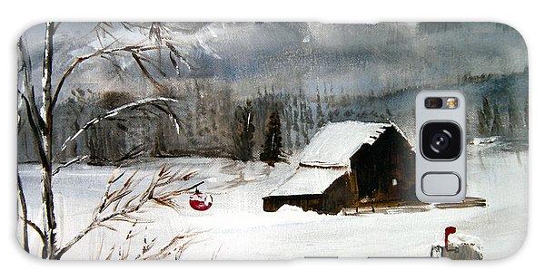 Christmas Farm House Galaxy Case