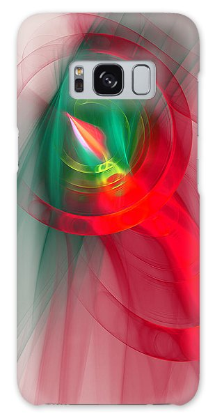 Christmas Flame Galaxy Case by Victoria Harrington