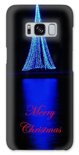 Christmas In Blue Galaxy Case