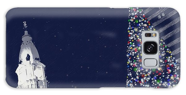 Christmas In Center City Galaxy Case by Photographic Arts And Design Studio