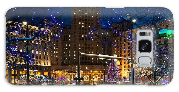 Christmas In Downtown Cleveland Galaxy Case