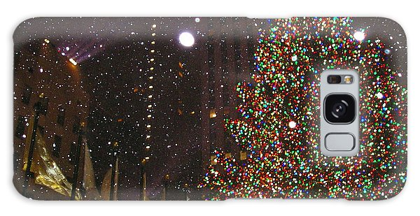 Christmas In New York City Galaxy Case