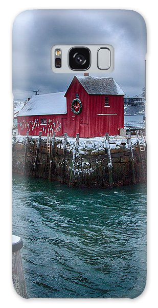 Christmas In Rockport Massachusetts Galaxy Case by Jeff Folger