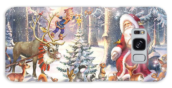 Elf Galaxy Case - Christmas In The Forest by Zorina Baldescu
