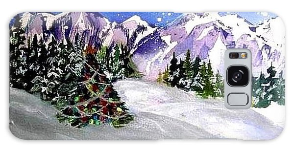 Christmas In The Mountains Galaxy Case