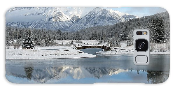 Christmas In The Rockies Galaxy Case by Ramona Johnston