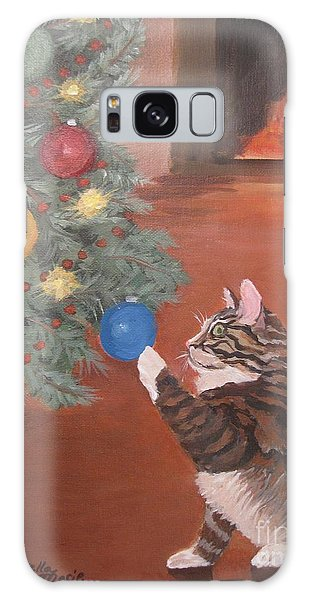 Christmas Kitty Cat Galaxy Case