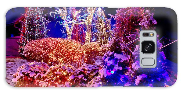 Christmas Lights In The Park Galaxy Case