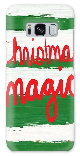 Magician Galaxy S8 Case - Christmas Magic - Greeting Card by Linda Woods