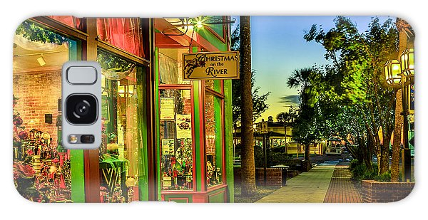 Sunset Christmas Store Galaxy Case by Paula Porterfield-Izzo