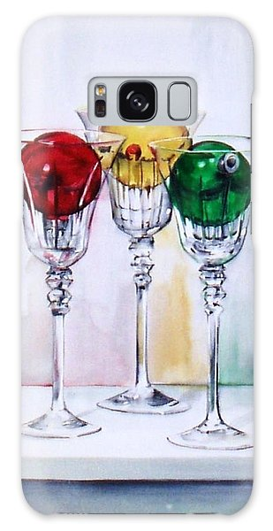 Christmas Ornaments In Wine Glasses Galaxy Case