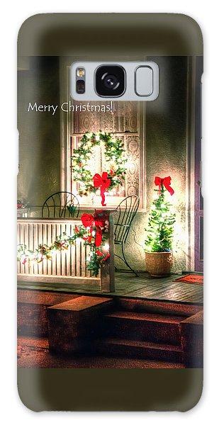 Christmas Porch Galaxy Case