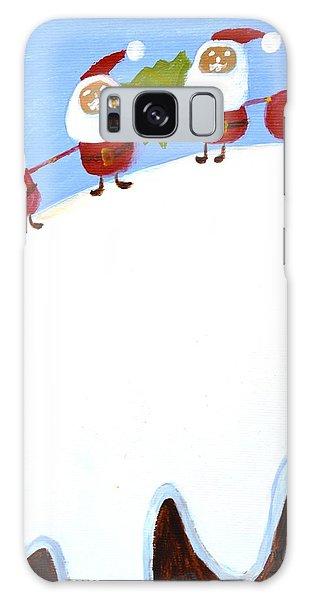 Christmas Pudding And Santas Galaxy Case by Magdalena Frohnsdorff