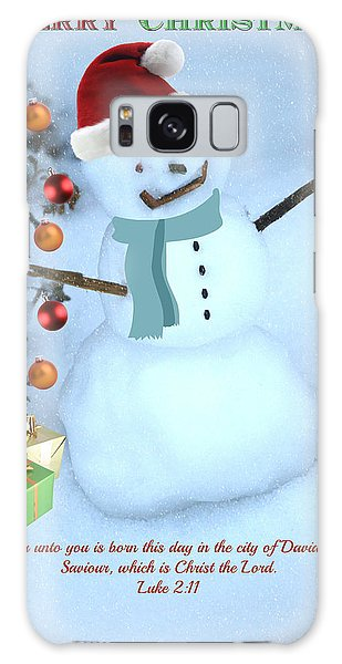 Scarf Galaxy Case - Christmas Snowman by Eric Liller