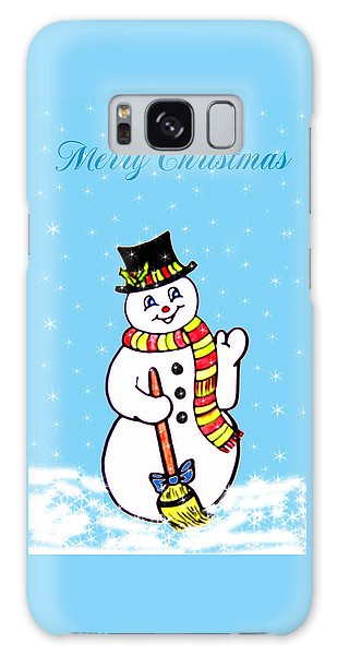 Christmas Snowman Galaxy Case