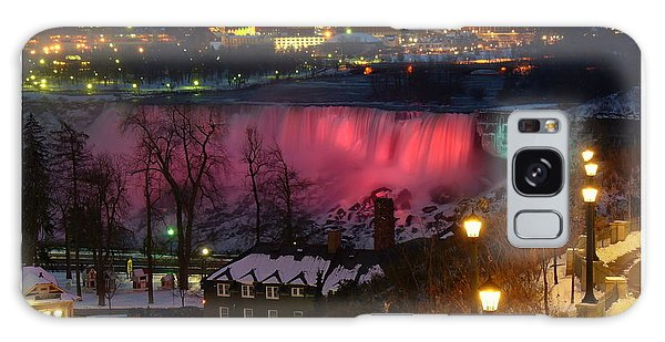Christmas Spirit At Niagara Falls - Holiday Card Galaxy Case