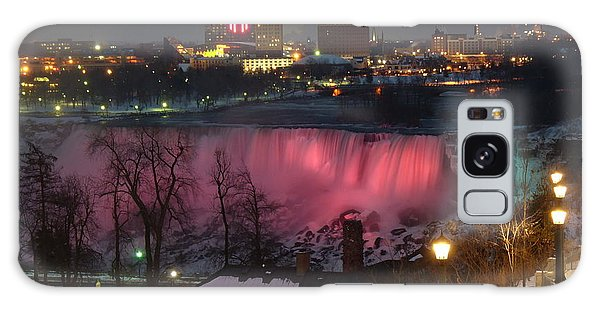 Christmas Spirit At Niagara Falls Galaxy Case