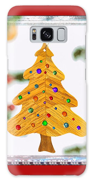 Christmas Tree Art Ornament In Red  Galaxy Case