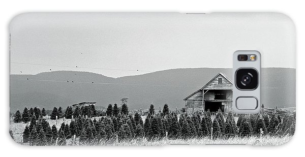 Christmas Tree Farm - Bw Galaxy Case
