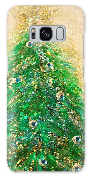Christmas Tree Gold By Jrr Galaxy Case by First Star Art