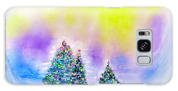 Christmas Trees In The  Valley - Alcohol Inks In Pastel Galaxy Case