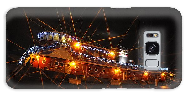 Christmas Tug Boat Galaxy Case