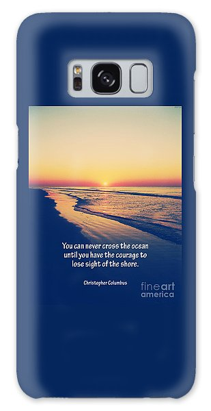 Christopher Columbus Quote Galaxy Case