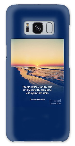 Christopher Columbus Quote Galaxy Case by Phil Perkins