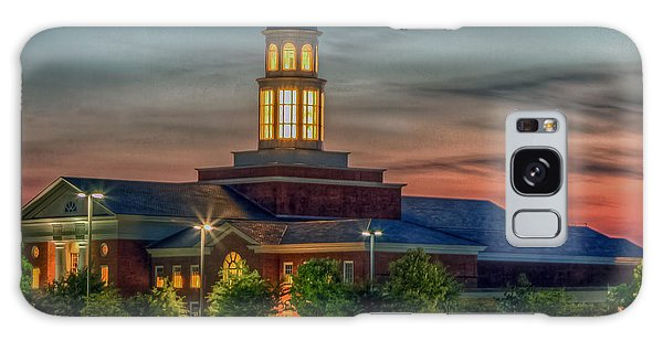 Christopher Newport University Trible Library At Sunset Galaxy Case