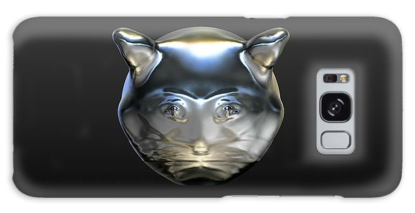 Chrome Cat Galaxy Case by Stacy C Bottoms