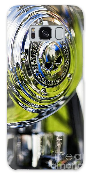 Chrome Harley Davidson Skull Casing Galaxy Case
