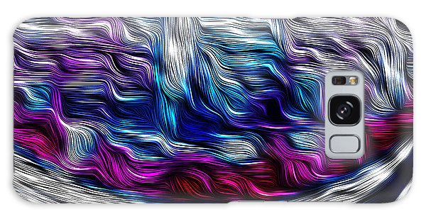 Chrome Waves Galaxy Case by Bill Kesler