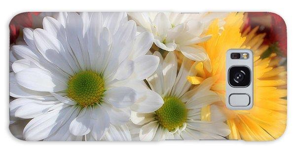 Chrysanthemum Punch Galaxy Case by Cathy  Beharriell
