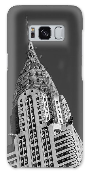 Galaxy Case featuring the photograph Chrysler Building Bw by Susan Candelario