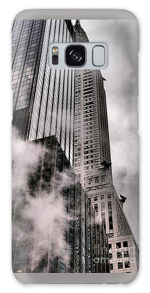 Chrysler Building With Gargoyles And Steam Galaxy Case by Miriam Danar