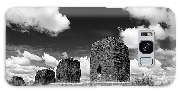 Desert View Tower Galaxy Case - Chulpas Or Funerary Towers by James Brunker