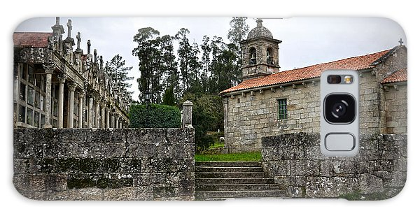 Church And Cemetery In A Small Village In Galicia Galaxy Case