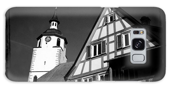 Church And Half-timbered House In Lovely Old Town Galaxy Case