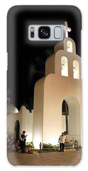 Church At Night In Playa Del Carmen Galaxy Case