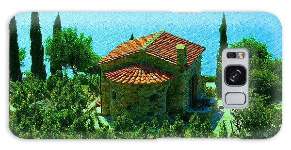 Enchanted Church Between Sea And Nature Galaxy Case by Giuseppe Epifani
