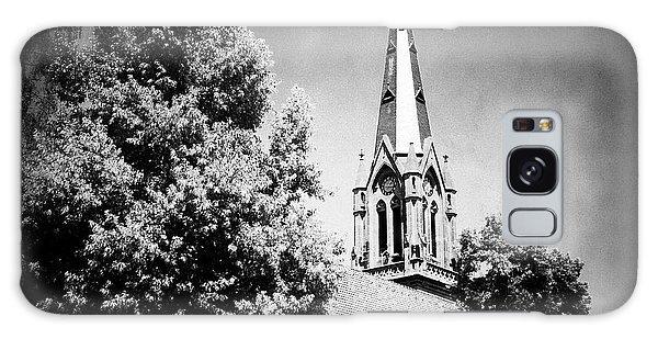 Church In Black And White Galaxy Case by Matthias Hauser