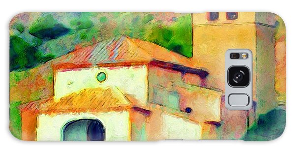 Church In Riglos Spain - Square Galaxy Case