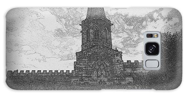 Church In Sketch Galaxy Case by Karen Kersey