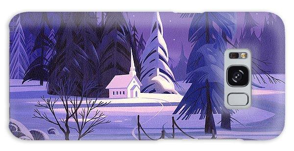 Church In Snow Galaxy Case