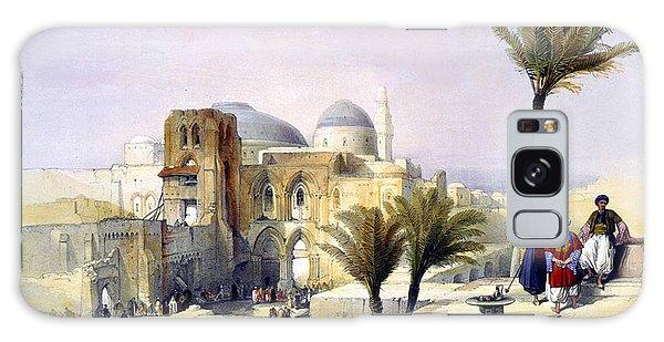 Church Of The Holy Sepulchre In Jerusalem Galaxy Case by Munir Alawi