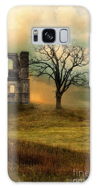 Church Ruin With Stormy Skies Galaxy Case